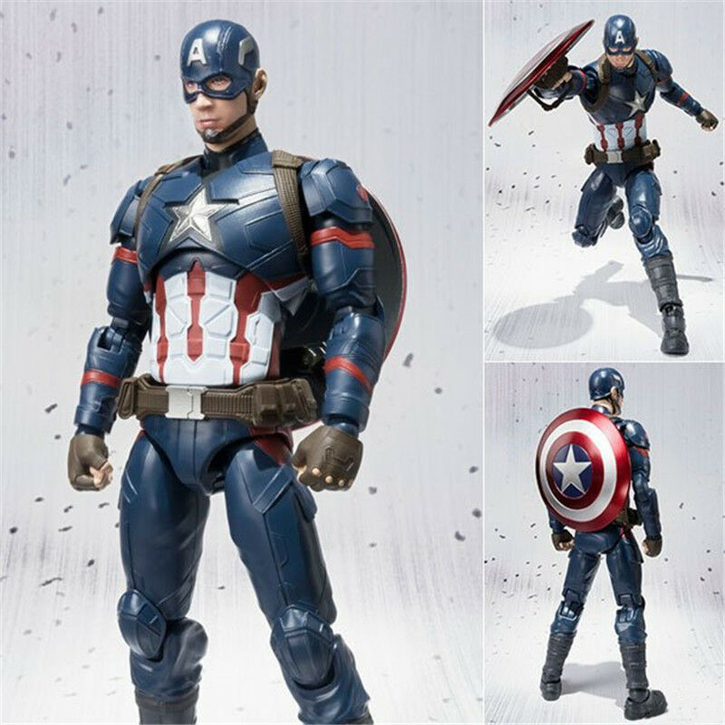 Doll Figure Gift Civil War Model-Toy Action-Collection Captain-America SHF 6''