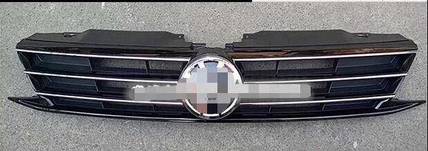 Fit For Vw Jetta MK6 2015 2016 1PCS ABS Car front bumper Mesh Grille Around Trim Racing Grills car-styling 2010 2013 mk6 abs auto car mesh bumper grille front grills for vw golf vi mk6 standard bumper