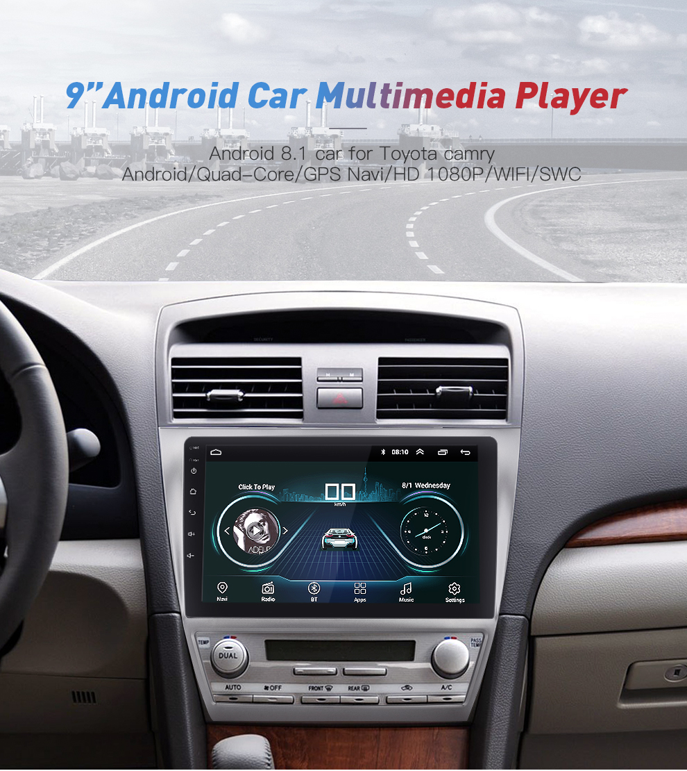 10 2'' Android 2din Car Radio 2G + 16G For Toyota Camry 2007~2011 GPS  Navigation Stereo Audio Video Multimedia DVD Player WIFI