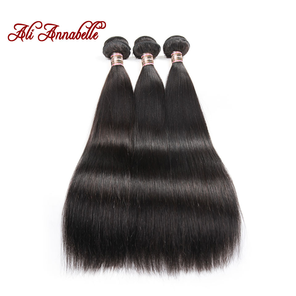 Hair-Extension Human-Hair-Bundles Ali Annabelle Straight Malaysian 100%Remy-Hair Weave