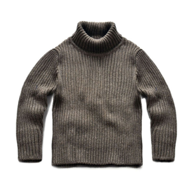 kids boys girls solid gray white turtleneck cotton casual rib knit pullover sweaters children fall winter base sweater clothes