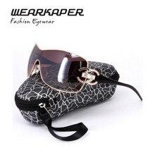 WEARKAPER Luxury Diamond Logo Sunglasses Women Brand Designer Rose Gold Frame UV Mirror Goggle With Box Oculos De Sol Feminino