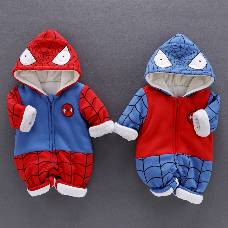 Christmas romper baby boy romper Spider-Man cartoon character long sleeve  hoodie baby boys jumpsuit wither baby clothing пластилин spider man 10 цветов