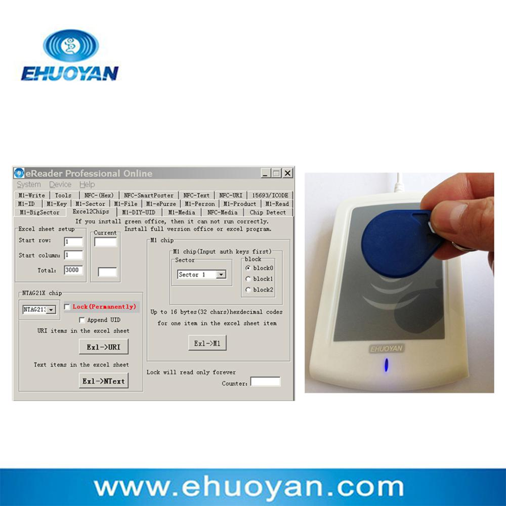 Android / RFID NFC Reader Writer 13,56 MHz ER302 Android + Auto Scan Reader + SDK + Software eReader +3 Tags