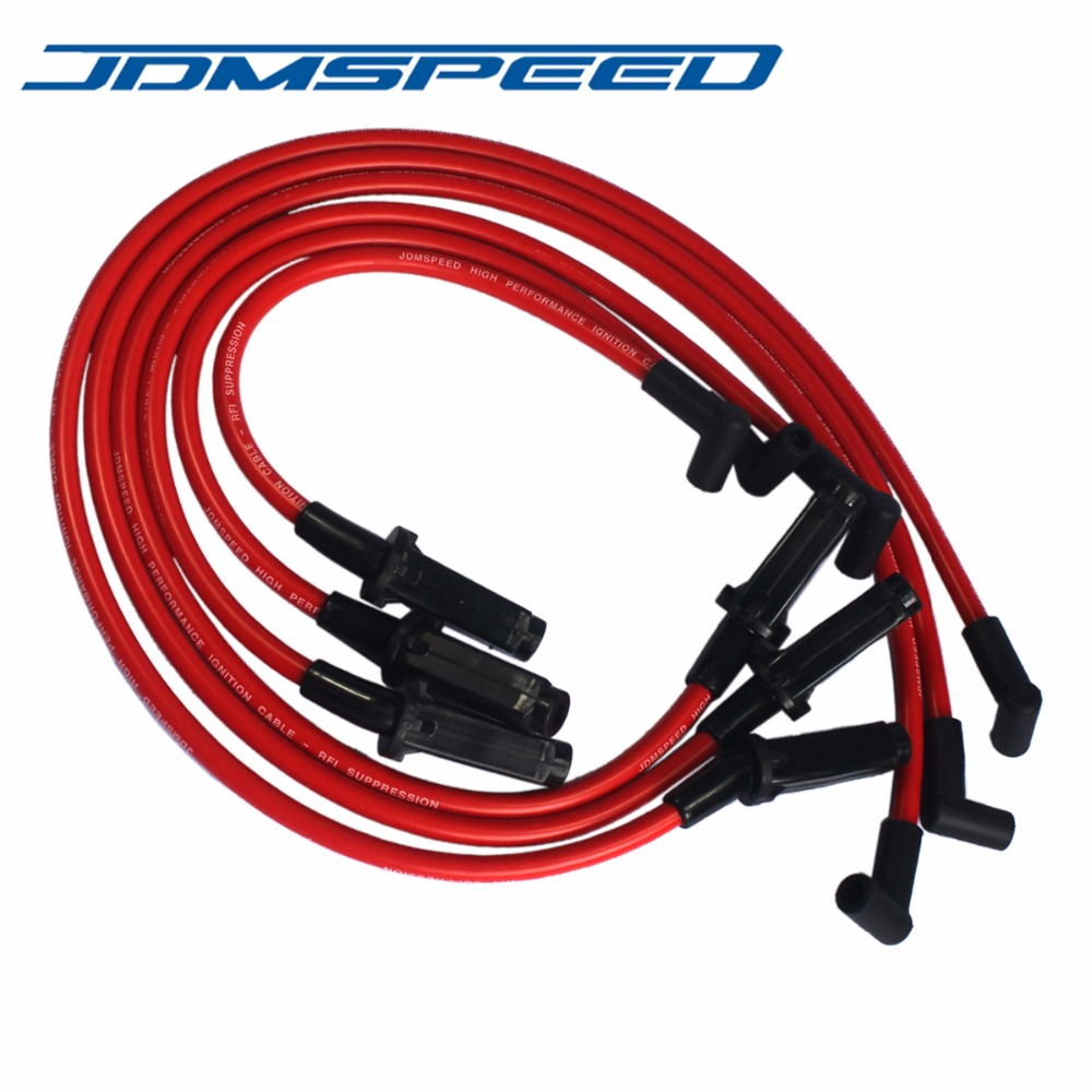 Free Shipping Jdmspeed Performance Red Mm Ignition Spark Plug Wires Fits For Gm Series on 1987 Buick Lesabre Firing Order