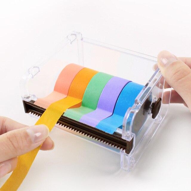 Хороший васи/maksing ленты держатель ящик для хранения может вырезать собирать ленты как день рождения Рождественские подарки