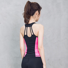 Yoga Vest Fitness Top Workout Shirts Women Bodybuilding Sexy Backless Yoga Tank Top Patchwork Sports Shirts Vest Femme