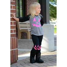Toddler Infant Baby Girl Pumpkin Patch Top+Pant