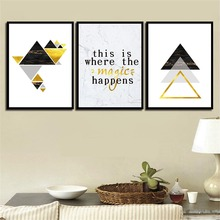Modern Prints Geometric Figure Minimalism Letters Posters Canvas Paintings Art Decor Home Living Room Wall Unframed