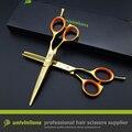 5.5 de oro tijeras de pelo tijeras tijeras de oro cabelereiro oro tijeras de peluquería kit profesional tijeras de peluquero para peluquería