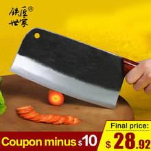 Chef knife 8 Inch handmade forged Slicing knife Cleaver Chinese kitchen knives meat vegetable knife ножи для кухни