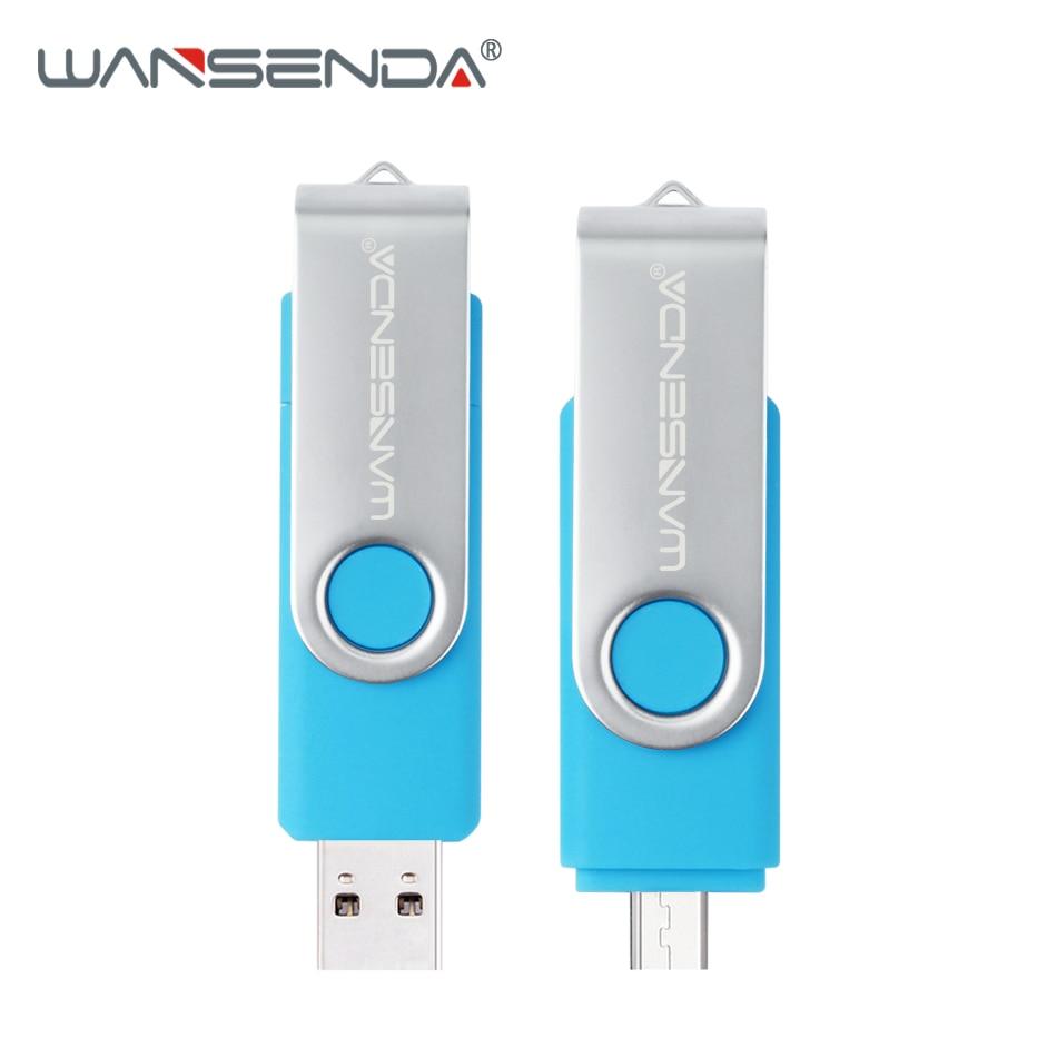 WANSENDA 3.0 USB Flash Drive OTG USB Stick 128gb 64gb 32gb for Android Phones PC Pen Drive 16gb 8gb Pendrive Micro USB