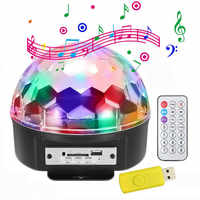 6 di colore di controllo remoto di controllo vocale LED di cristallo magic ball MP3 apparecchi di illuminazione della fase KTV bar flash luci rotanti
