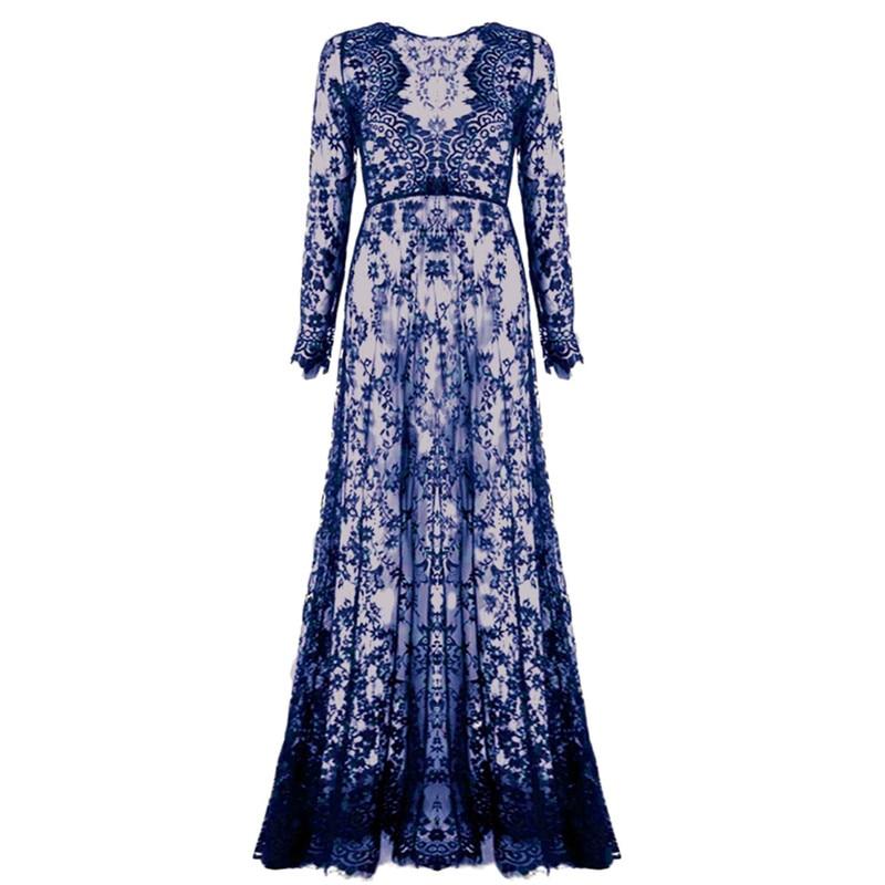 Summer Asymmetrical Boho Long Sleeve Patchwork Dress