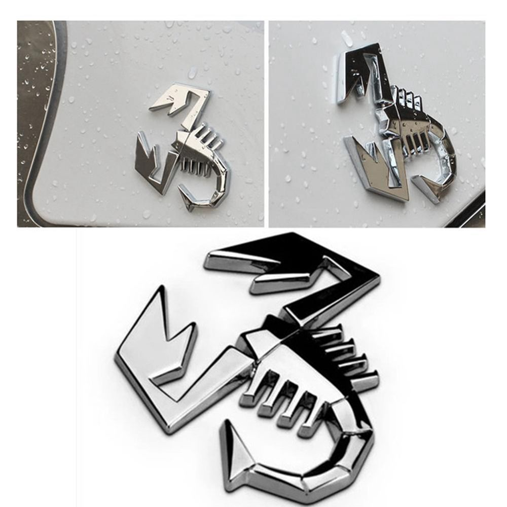 Office & School Supplies Ppyy New metal Silver 3d For Motorcycle Car Van Scorpion Emblem Sticker