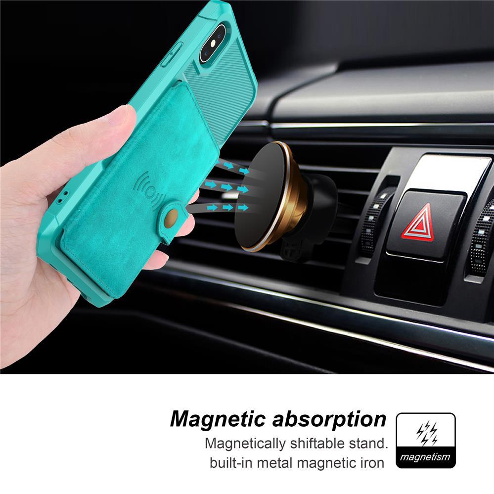 Luxus Retro PU Leder Magnetische Absorption Brieftasche Fall Für iPhone X XS MAX XR 6 6 S 7 8 Plus fällen Multi Karte Halter Flip-Cover