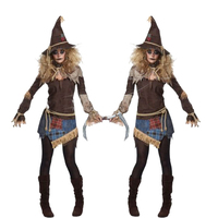 High Quality Brand New Halloween Party Gothic Costume Halloween Witches Uniform Zombie Ghost Players Devil Horrible Costumes