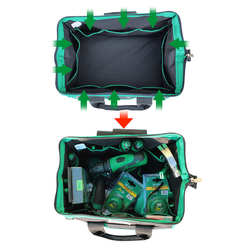 1pcs LAOA 600D Tool Bag Electrician Large Capacity Repair Tool Kit Water Proof Bags Storage For Electricians Tools