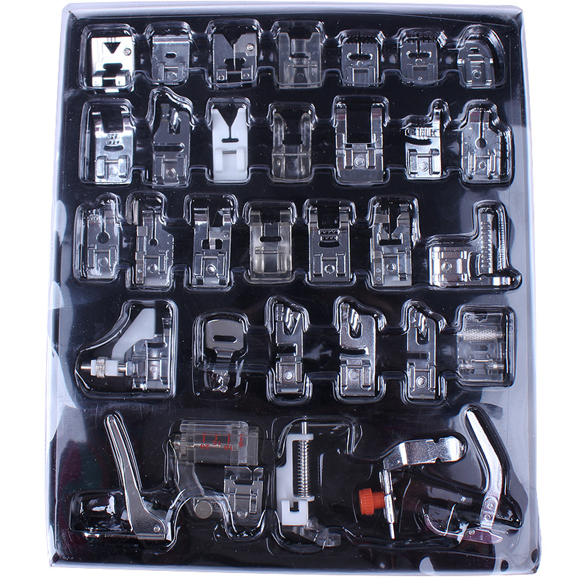 32pcs Multifunction Presser Foot Spare Parts Accessories For Sewing Machine Brother Singer Sewing Tools Accessory New 2019 in Sewing Tools Accessory from Home Garden