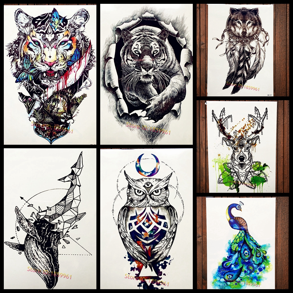 aquarelle indien tribal tigre imperm ables tatouage. Black Bedroom Furniture Sets. Home Design Ideas
