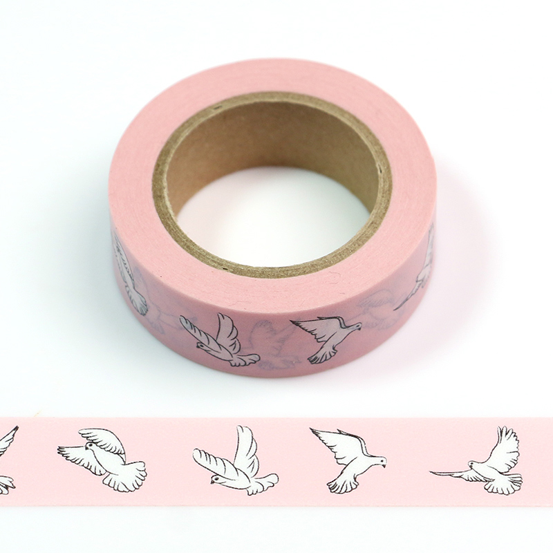 1PC  A Flight Of Geese Lotkawaii Animals Decorative Washi Tape DIY Scrapbooking Masking Tape School Office Supply