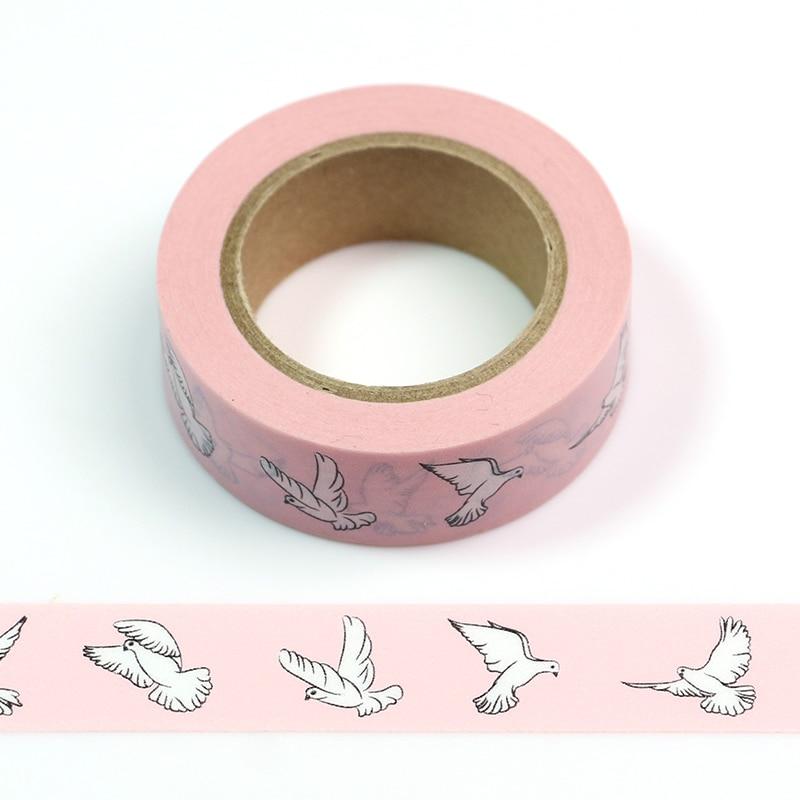 1PC  A Flight Of Geese Lotkawaii Animals Decorative Washi Tape DIY Scrapbooking Masking Tape School Office Supply