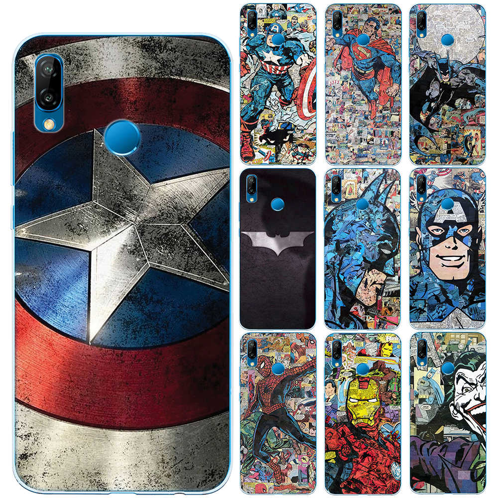 Super Heros Captain America Iron Man Soft TPU Case Cover For Huawei P8 P9 P10 P20 Lite P30 Lite Pro Mate 10 20 Lite Pro