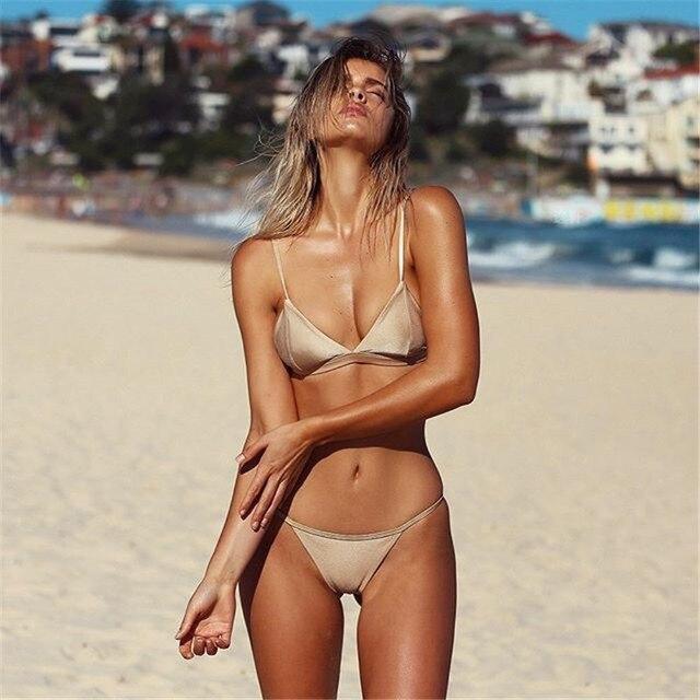 2017 Nuevo Bikini Desnuda Micro Maillot De Bain Traje De -4620