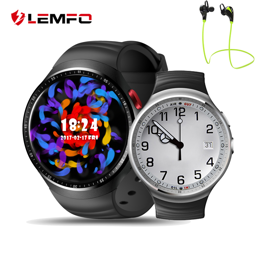 LEMFO LES1 Android 5 1 OS 1GB 16GB MTK6580 Smart Watch Phone Support SIM Card GPS