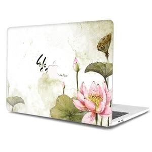 Image 2 - Flor Pintada Laptop Funda para MacBook Air Pro 13 15 12 11 polegada Cheia Tampa Caso Difícil para Macbook Retina polegada A1932 A1286 Coque
