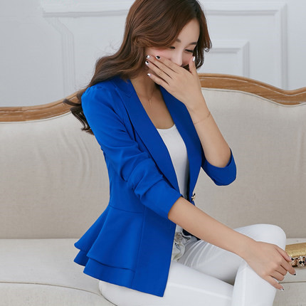 Women Jackets Blazers Spring Single-Button Female Autumn Fashion Size-Coat And No S--3XL