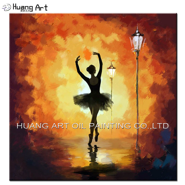 Cheapest Hand painted Modern Ballet Dancer Oil Painting On Canvas ...