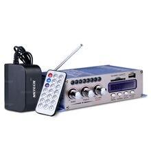 HY502S Bluetooth De Voiture Amplificateur de Puissance Stéréo Mode Sonore HiFi 2 canal Mini Numérique FM Audio + Haut-Parleur MP3 Lecteur de Musique + chargeur
