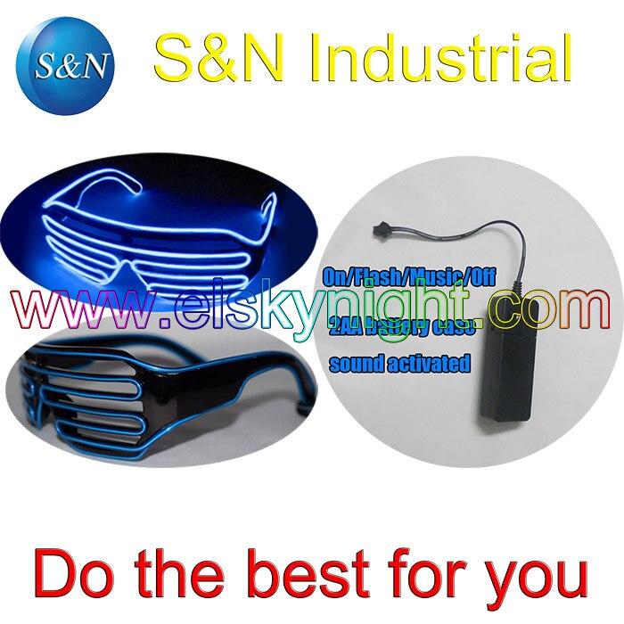 Azul El Cable Del Obturador Gafas De Partido-On/flash/música/apagado 4 día de fi