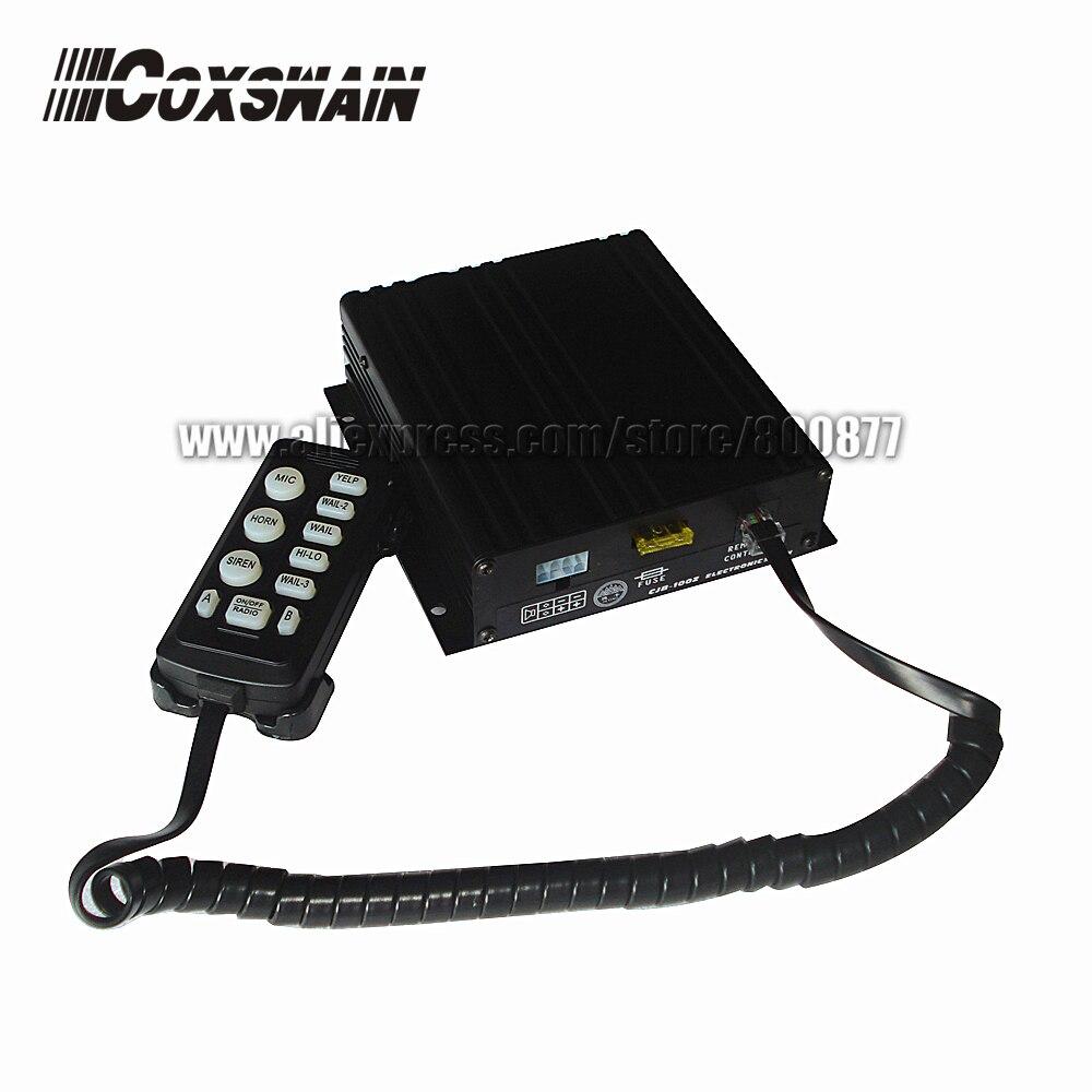 (CJB-100Z) 100 W coche sirena de policía electrónica, 10 tonos con Micrófono 2 i