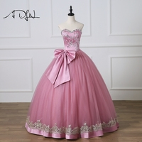 ADLN 2018 New Sweetheart Sleeveless Ball Gown Quinceanera Dresses Custom Made Sweet 16 Dress with Bow Debutante Gown