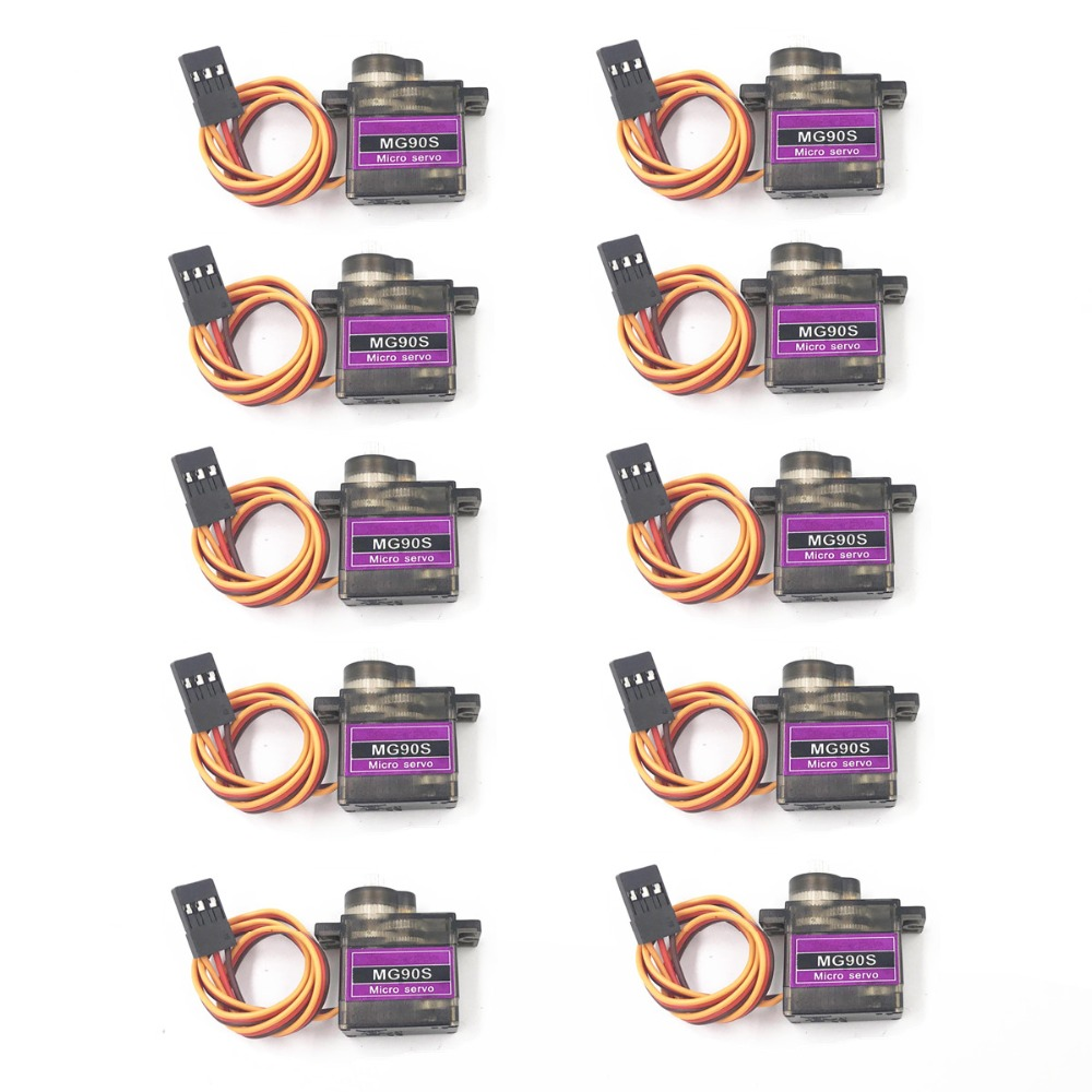 4/5/10/20 pcs/lot MG90S Metal gear Digital 9g Servo SG90 For Rc Helicopter Plane Boat Car MG90 9G Trex 450 RC Robot Helicopter(China)