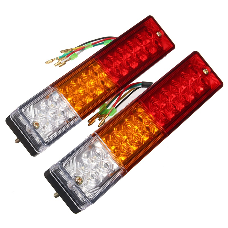 2x 12v Caravan Led Trailer Tail Reverse Lights LED Rear Turn Signal Truck Trailer Lorry Stop Rear Tail Indicator Light Lamp car styling tail lights for toyota highlander 2015 led tail lamp rear trunk lamp cover drl signal brake reverse