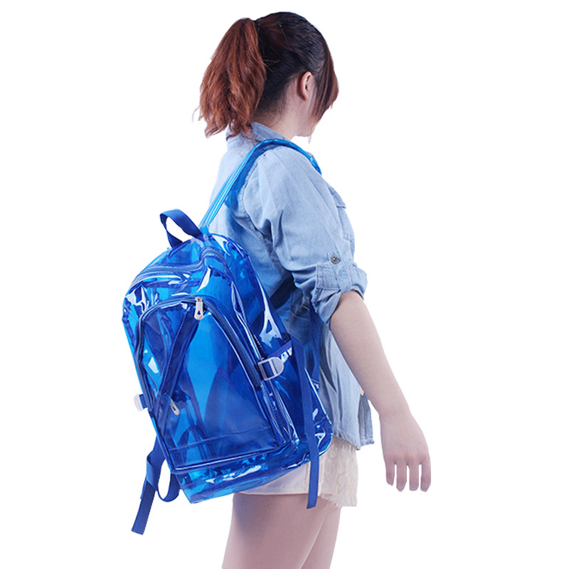 2016 Hot New arrive fashion women Backpack candy color transparent Backpack School Bags for Teenagers student