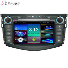 "Topnavi 8"" Quad Core Android 4.4 Car DVD Multimedia Player for Toyota RAV4 2014- Autoradio GPS Navigation Audio Stereo"