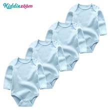 ФОТО newborn clothing for babies unisex long sheeve vestiti neonato 3-12m 100%cotton ubrania dla dzieci 4pcs/sets roupa para bebe