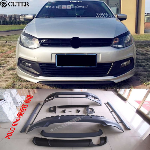 Polo Gti R Line Style Car Body Kit Pp Unpainted Front