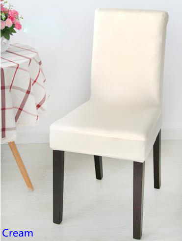 Cream Chair Covers For Weddings Electric Scooter Colour Spandex Lycra Cover Fit Square Back Home Chairs Wedding Party Dinner Decoration Half