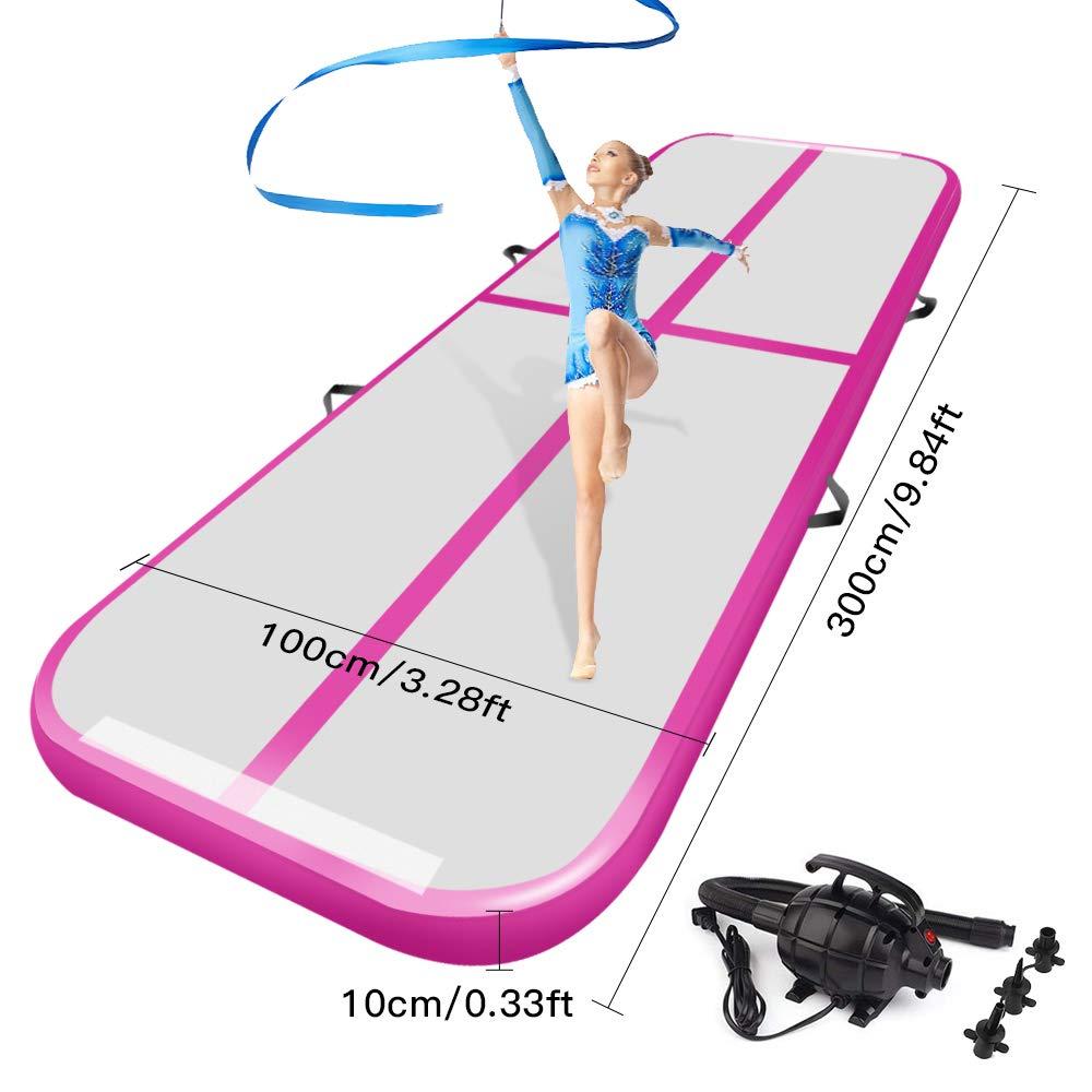 Tapis de culbutage de voie d'air pour la gymnastique tapis de sol gonflables d'airtrack avec la pompe à Air électrique pour l'entraînement de Cheerleading d'utilisation à la maison