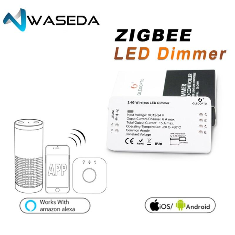 WASEDA LED bande ZLL lumière lien 2.4G Zigbee RGBW contrôleur 5050 3528 5630