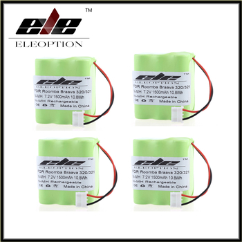 4PCS Eleoption New Rechargeable Vacuum Cleaner Battery for iRobot Braava 320 321 & Mint 4200 4205 Floor Cleaner Robot 4408927