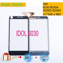 For Alcatel One Touch idol 6030 6030d 6030x 6030a ot6030 OT-6030 Touch Screen Touch Panel Sensor Digitizer Front Glass NO LCD lcd screen display touch panel digitizer with frame for alcatel one touch idol 3 6045 ot6045 black color free shipping