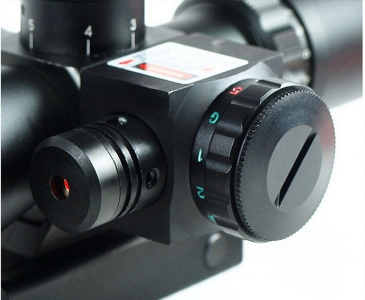 2.5-10X40 Tactical Rifle Scope with Red Laser 3