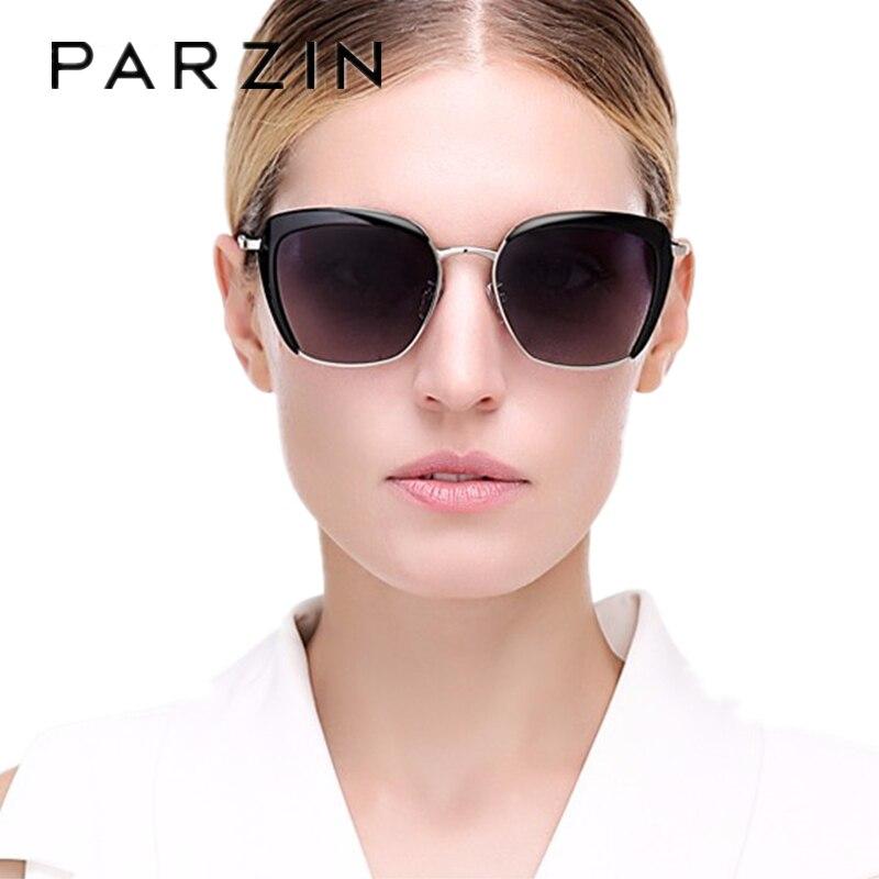 PARZIN surdimensionné lunettes de soleil polarisées Vintage Steampunk lunettes de soleil femmes de luxe mode été nuances avec étui 9521