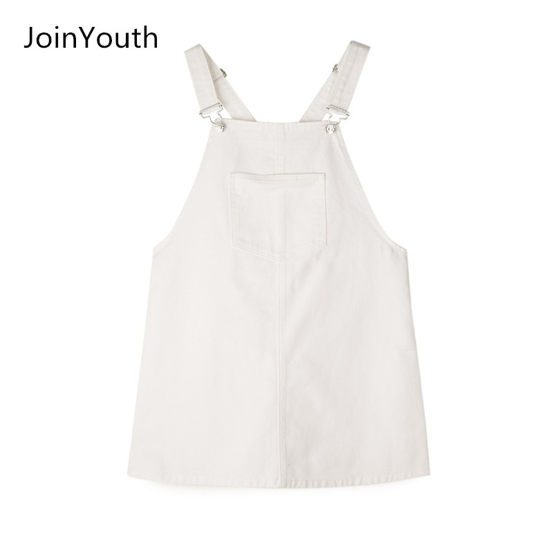 facaf861f0 Φορέματα JoinYouth Women Fashion Black White Striped Pocket Denim  Adjustable Suspender Dress Belt Autumn Female Braces Romper Dress